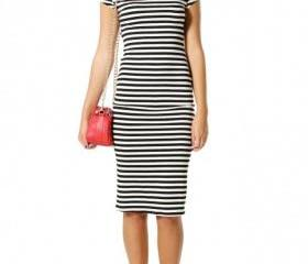 OPEN BACK STRIPE DRESS